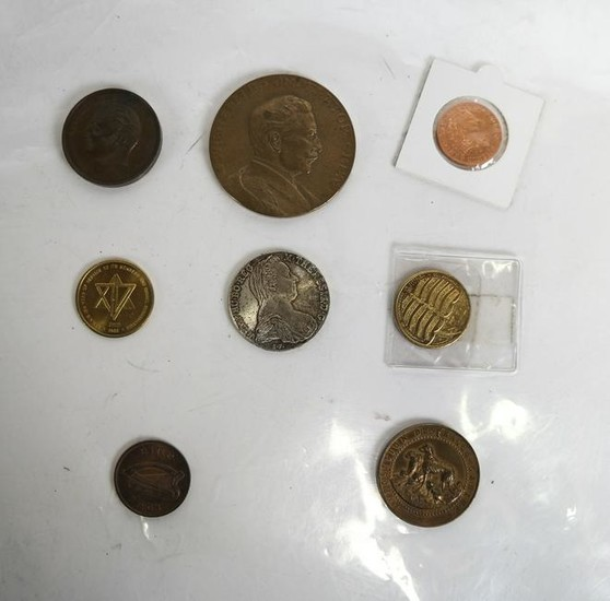 Group of 6 Medallions and a Coin