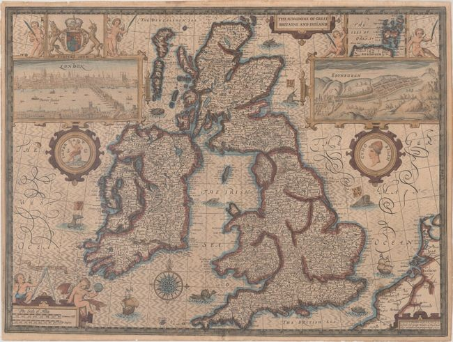 "Speed's Famous Map of the British Isles Engraved by Hondius, ""The Kingdome of Great Britaine and Ireland"", Speed, John"