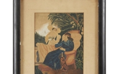 """A watercolor drawing """"The Sick Lady by Abbie Mullock,""""..."""