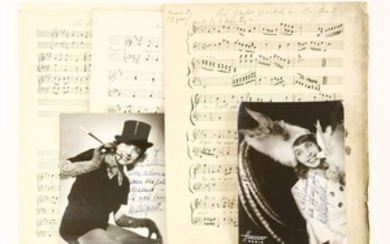 1- Mistinguett (1875-1956): 2 Inscribed and Signed photograph. (French actress and singer