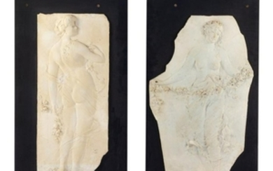 Two Plaster Plaques from the Phoenix Hotel MI