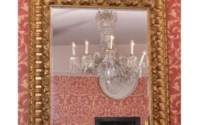 A Victorian gilt wood wall mirror, circa 1860