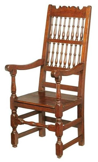 Rare Early Black Walnut Great Chair