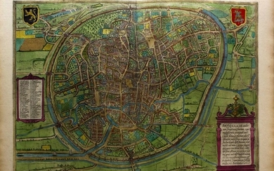G. Braun & F. Hogenberg: MAP OF BRUSSELS, 1575