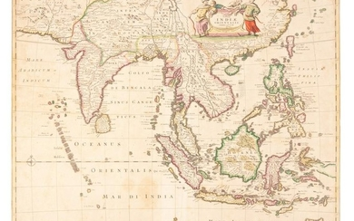De Wit map of India & Southeast Asia 1662