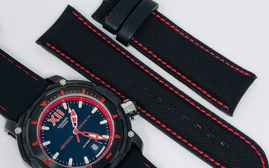 "Visconti - Abyssus Full Dive 1000 Black PVD Red 2 Straps - KW51-03 ""NO RESERVE PRICE"" - Men - BRAND NEW"