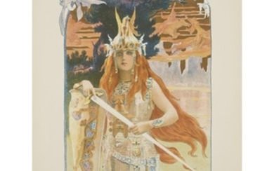 """GASTON BUSSIÈRE (french, 1862–1929) """"BRUNHILD"""" plate from the may..."""