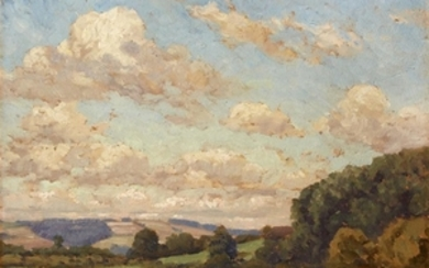CHRISTIAN J. WALTER (american, 1872–1938) UNTITLED (GREEN PASTURES) Signed...