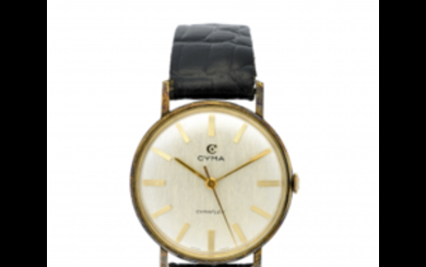 CYMA Gent's metal wristwatch 1960s Dial, movement and case...