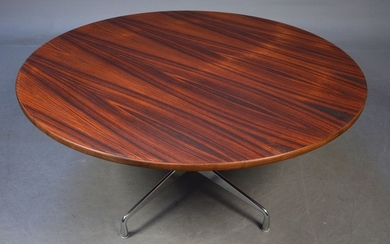 Charles Eames. Round dining table/'Segmented Table', Ø 150 cm in rosewood