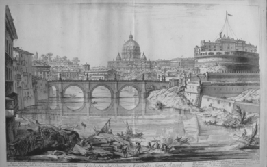 Piranesi, Giovanni: THE PONTE AND CASTEL S. ANGELO, Year 1754