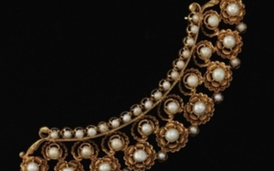 Ladies' Gold and Pearl Brooch