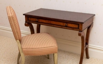 Baker - Mahogany Writing Table with Chair