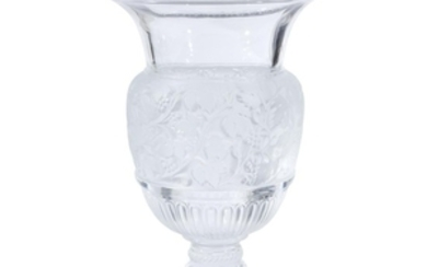 A Lalique Versailles Vase France, 20th century Classical urn...