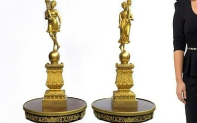 Pierre P. Thomire Pair of Empire Candelabras, Signed