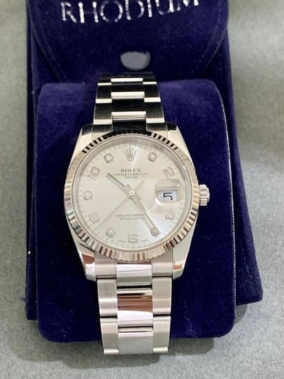 Rolex - Oyster Perpetual Date Diamond Dial- 115234 - Unisex - 2011-present