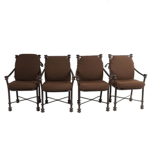 Lot Art Rustic Metal Patio Chairs