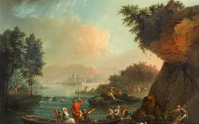 Claude-Joseph Vernet, Coastal Landscape at Dusk - From a Series of ...