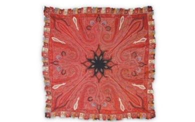 AN EMBROIDERED KASHMIRI SHAWL Kashmir, North India,