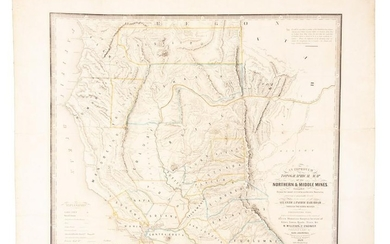 Zakreski map of California Gold Region 1854