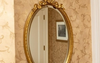French Gilt Mirror - Tied Bow Crest