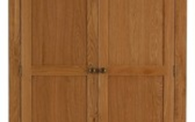 A new oak double wardrobe with two base drawers - 200cm x 20...