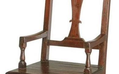 Very Rare William and Mary Mulberry Armchair