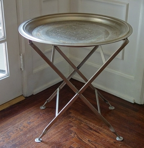 Lot Art Stainless Steel Tray Table