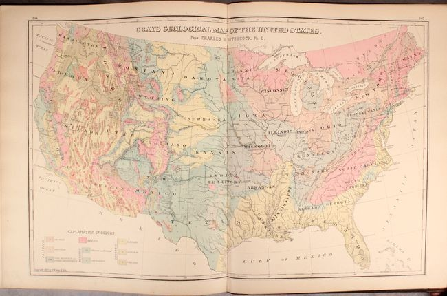 """""""The National Atlas. Containing Elaborate Topographical Maps of the United States and the Dominion of Canada, with Plans of Cities and General Maps of the World..."""", Gray, Ormando Willis & Son"""