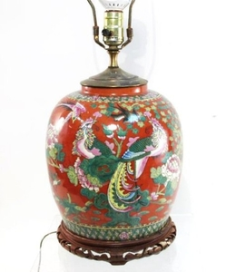 Lot Art | Chinese Ginger Jar Table Lamp