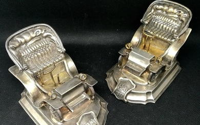 Extraordinary Pair of Vintage Cars in Scala (2) - .800 silver - Italy - mid 20th century