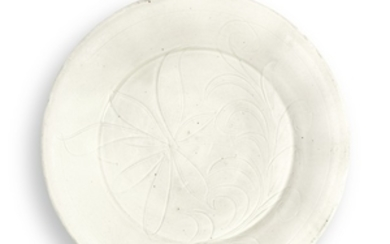 A CARVED 'DING' DISH NORTHERN SONG DYNASTY