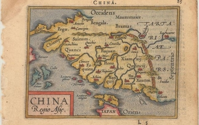 """China Regio Asie"", Ortelius/Galle"