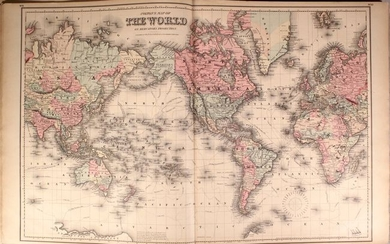 """Colton's Impressive General Atlas, """"Colton's General Atlas of the World, Containing Two Hundred and Twelve Maps and Plans, on One Hundred and Forty-Two Imperial Folio Sheets..."""", Colton, G.W. & C.B."""