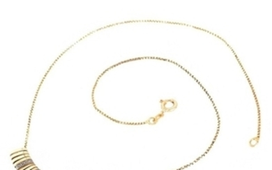 Delicate 14K and Diamond Necklace