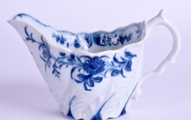A RARE WORCESTER LOW CHELSEA EWER painted with the