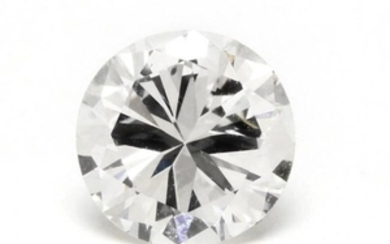 Unmounted Diamond with Platinum and Diamond Mount
