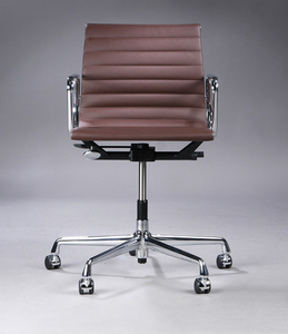 Charles Eames. Office chair in brown leather, model EA-117