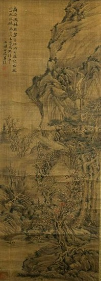 Landscape Painting on Silk, Attributed to Lan Ying