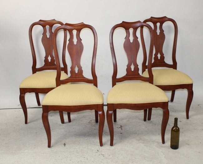 Lot Of 4 Ethan Allen Queen Anne Chairs